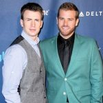 Chris Evans with his brother Scott Evans