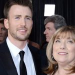 Chris Evans with his mother
