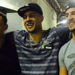 Klay Thompson (right) with his brothers