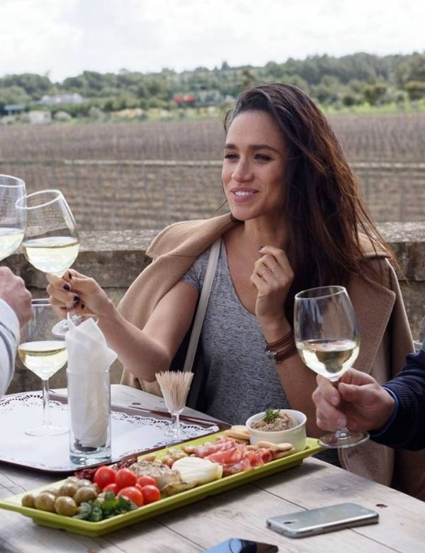 Meghan Markle Enjoying Wine
