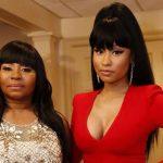 Nicki Minaj with her sister