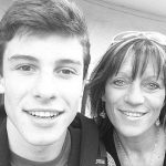 Shawn Mendes with his mother
