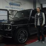 Stephen Curry with Mercedes G55