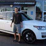 Stephen Curry with his Range Rover