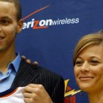 Stephen Curry with his mother