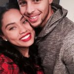 Stephen Curry with his wife