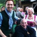 Tom Hiddleston with his father
