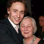 Tom Hiddleston with his mother