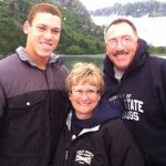 Aaron Judge with his adoptive parents