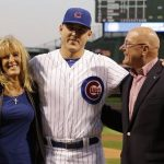 Anthony Rizzo with his parents