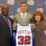 Blake Griffin with his parents