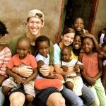 Clayton Kershaw with his wife in Zambia
