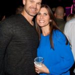 David Ross with his wife