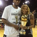Kawhi Leonard with his mother