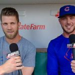 Kris Bryant with Bryce Harper
