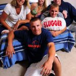 Mike Trout with his family