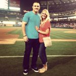Mike Trout with his girlfriend