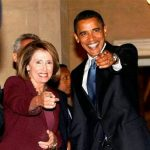 Nancy Pelosi and Barack Obama