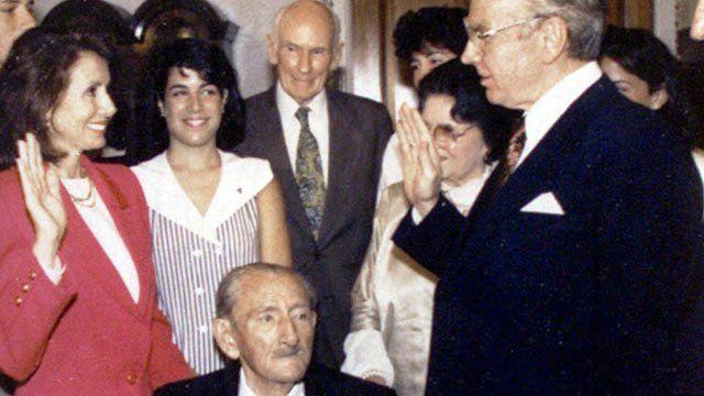 Nancy Pelosi's oath in 1978