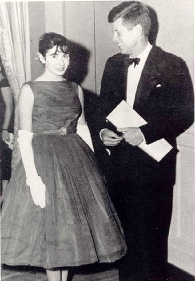 Nancy Pelosi with John F. Kennedy