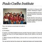 Paulo Coelho - Paulo Coelho Institute