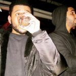 Weeknd drinking alcohol