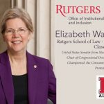 elizabeth warren at Rutgers School of Law