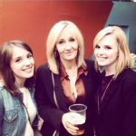 rowling drinking beer