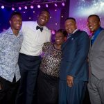 Cam Newton (Second from left) with his family