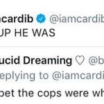Cardi B tweet