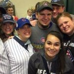 Kyle Schwarber surrounded by Friends and Family