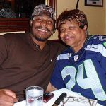 Marshawn Lynch with his mother