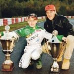 Mick Schumacher childhood photo with his father