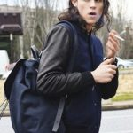 Miles McMillan smoking