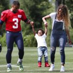 Russell and Ciara with their son