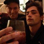 Sean OPry drinking beer
