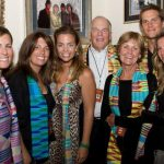 Tom Brady with Sisters left, parents centre and wife right near Tom