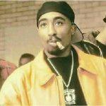 Tupac smoking