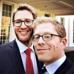 Anthony Rapp with his brother
