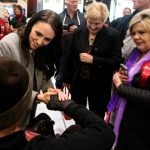 Ardern with her aunt Marie on the right