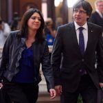 Carles Puigdemont with his wife