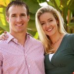 Drew Brees with his wife