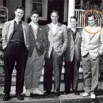 George H W Bush (Extreme Right) With His Father (Center) And His Brothers (from Left To Right Jonathan, Wiliam and Prescott Bush Jr)