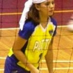 Isabel Granada playing volleyball