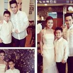 Jeric Genasky with his Ex-wife Isabel Granada and his son