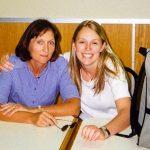Jacinda Ardern with her mother