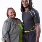 Julio Jones with his mother