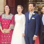 Peter Caruana Galizia with his wife and children