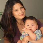Natassia Malthe With Her Son