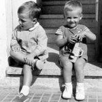 Puigdemont (right) as a child, next to his older brother